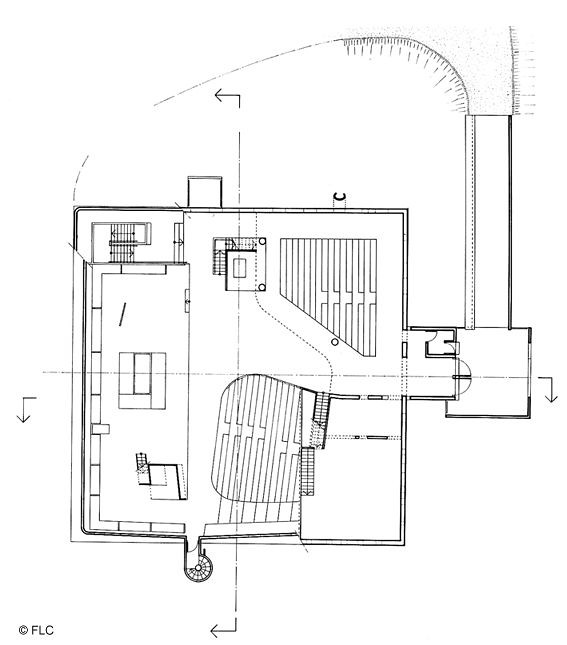 firminy church 1st floor plan by le corbusier site le corb flickr. Black Bedroom Furniture Sets. Home Design Ideas