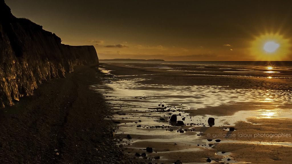 Mer coucher de soleil sur les falaises du cap blanc nez flickr - Coucher de soleil en mer ...