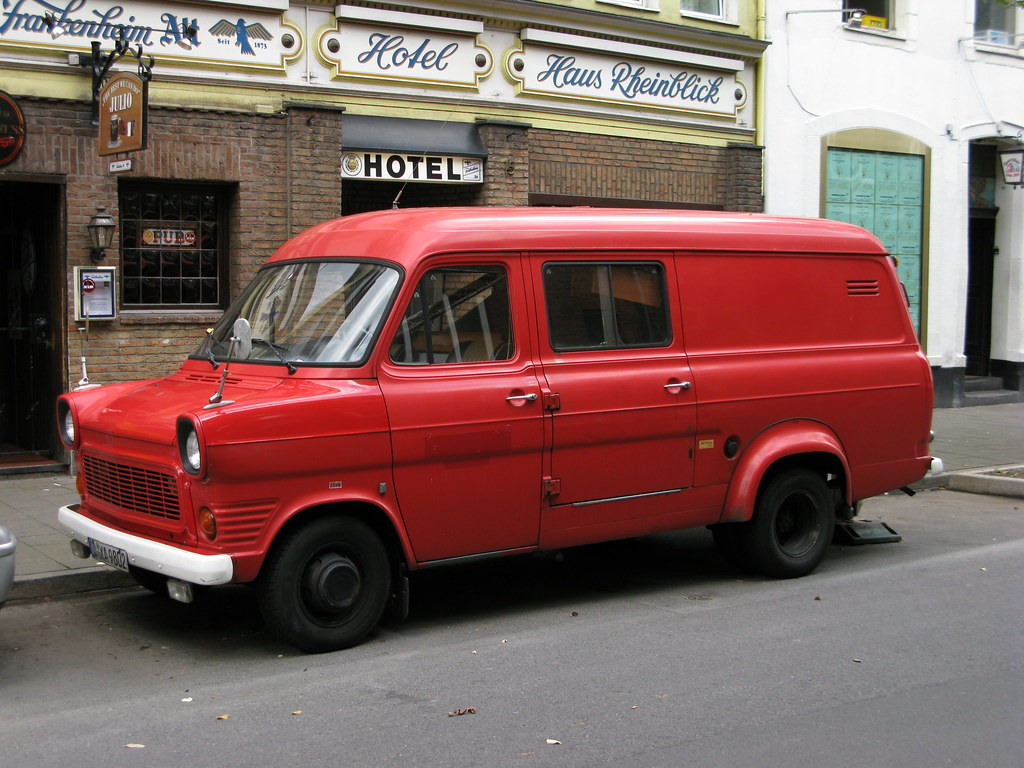Ford Transit Van >> Ford Transit in Düsseldorf | An old Ford Transit van (long w… | Flickr