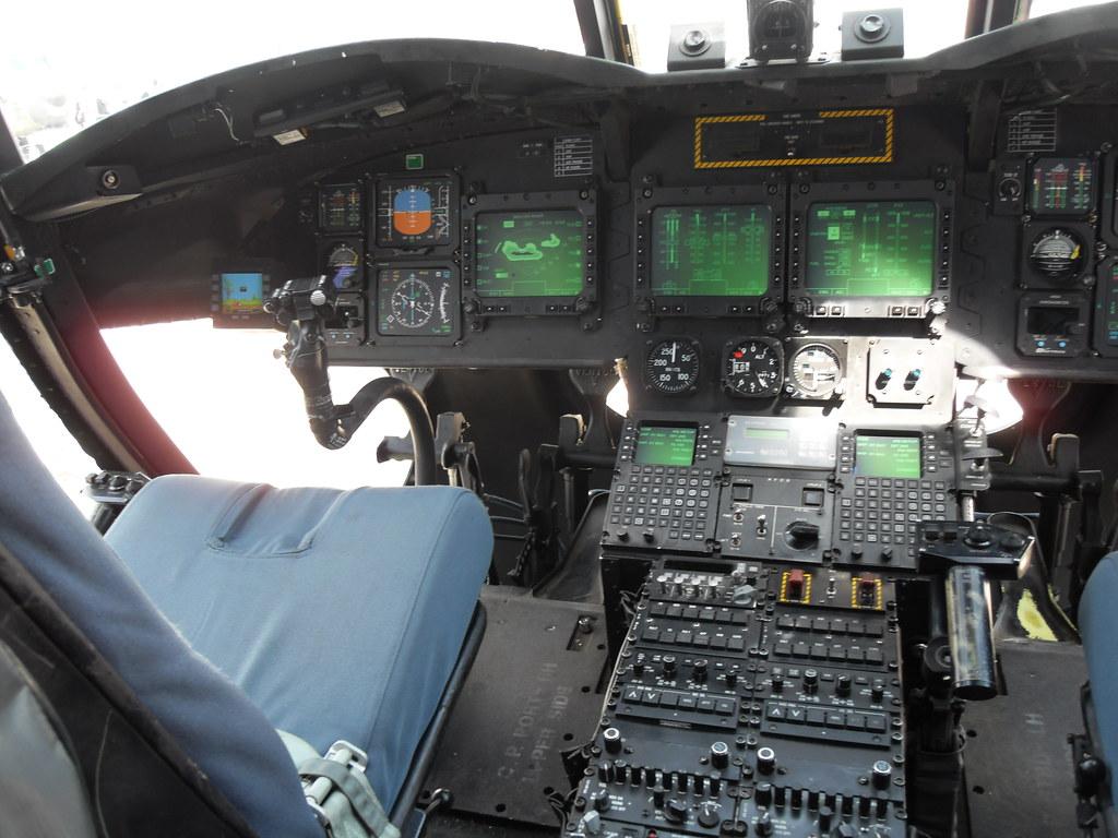 Dutch Ch 47f Chinook Inside Cockpit View 2014 One Major