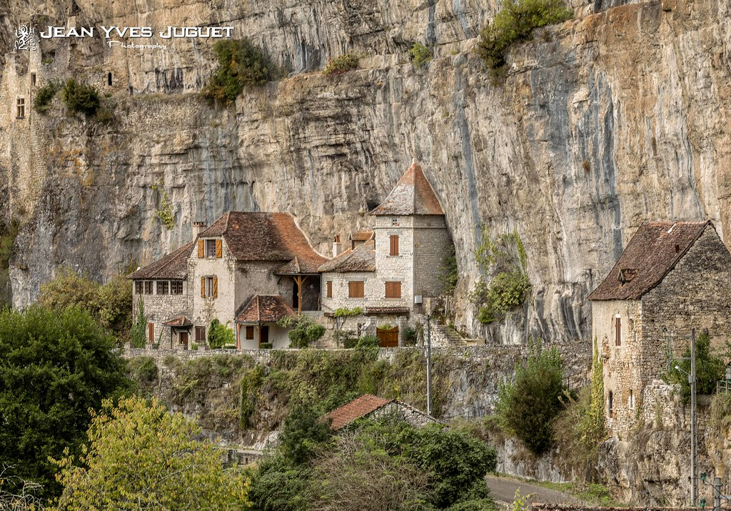 semi troglodyte houses cabrerets lot france maisons flickr. Black Bedroom Furniture Sets. Home Design Ideas