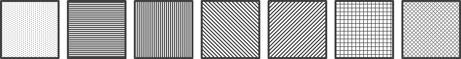 가로 줄무늬, 세로 줄무늬, 대각선 줄무늬, 십자 줄무늬 등의 패턴 이미지