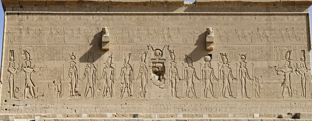 Dendera Hathor Temple Outer Rear Wall Of The Temple