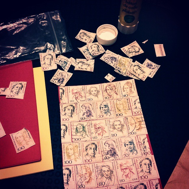 Some late night mail art crafting #snailmail #mail #mailart #postage #stamps #postzegels #postagestamps #postcard #handmade