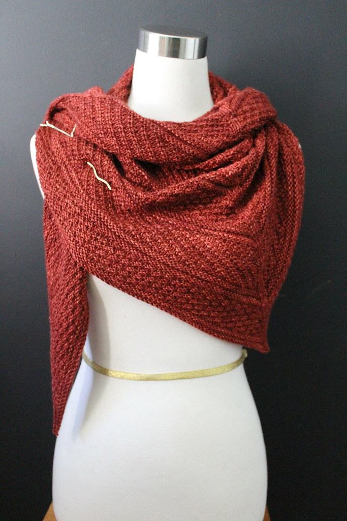 Guernsey Shawl knit pattern on Ravelry. Madelinetosh pashm ...