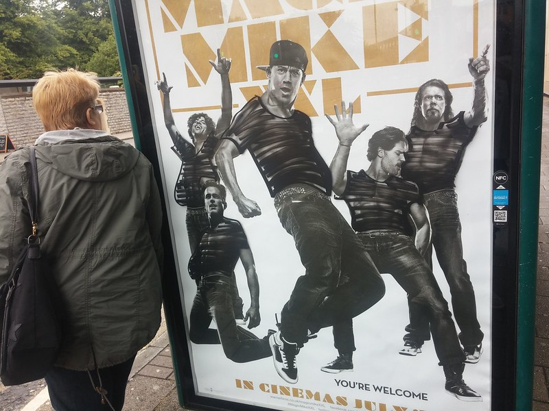 Magic Mike bus stop advert censored
