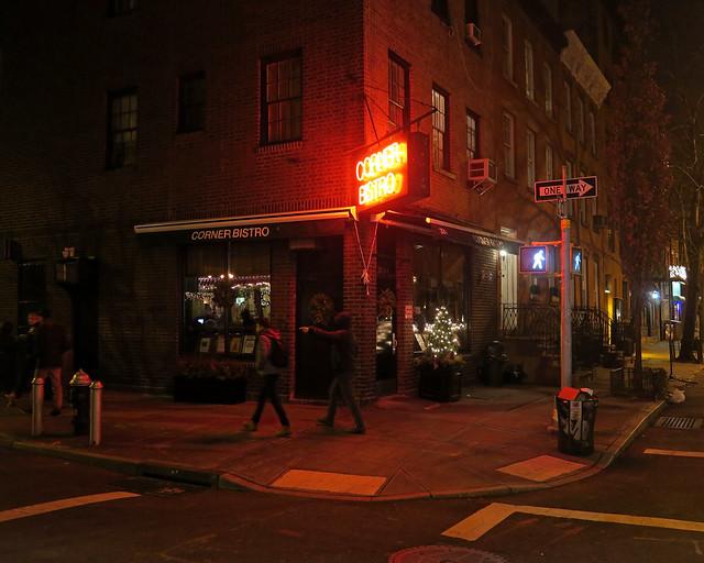 Restaurante Corner Bistro de Nueva York