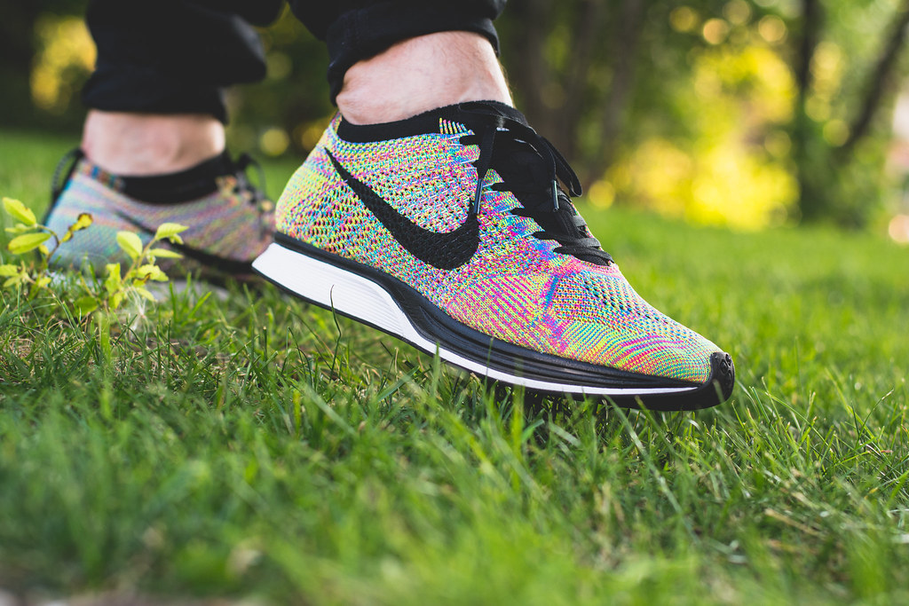 timeless design 57403 894d8 Nike Flyknit Racer Multicolor On Feet