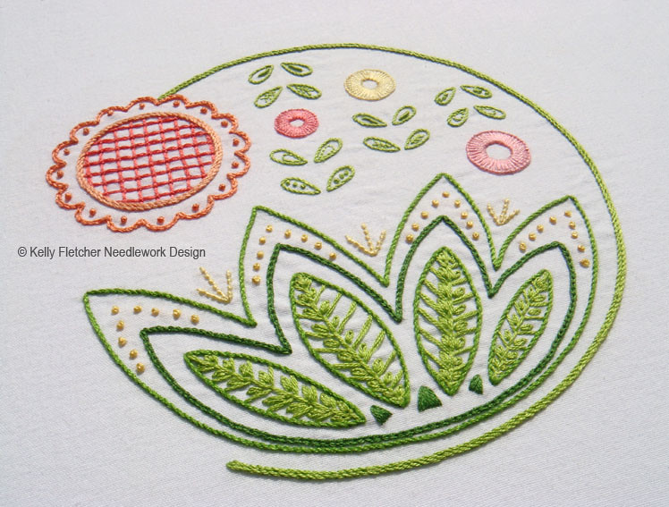 Sweetsong a modern jacobean hand embroidery pattern flickr