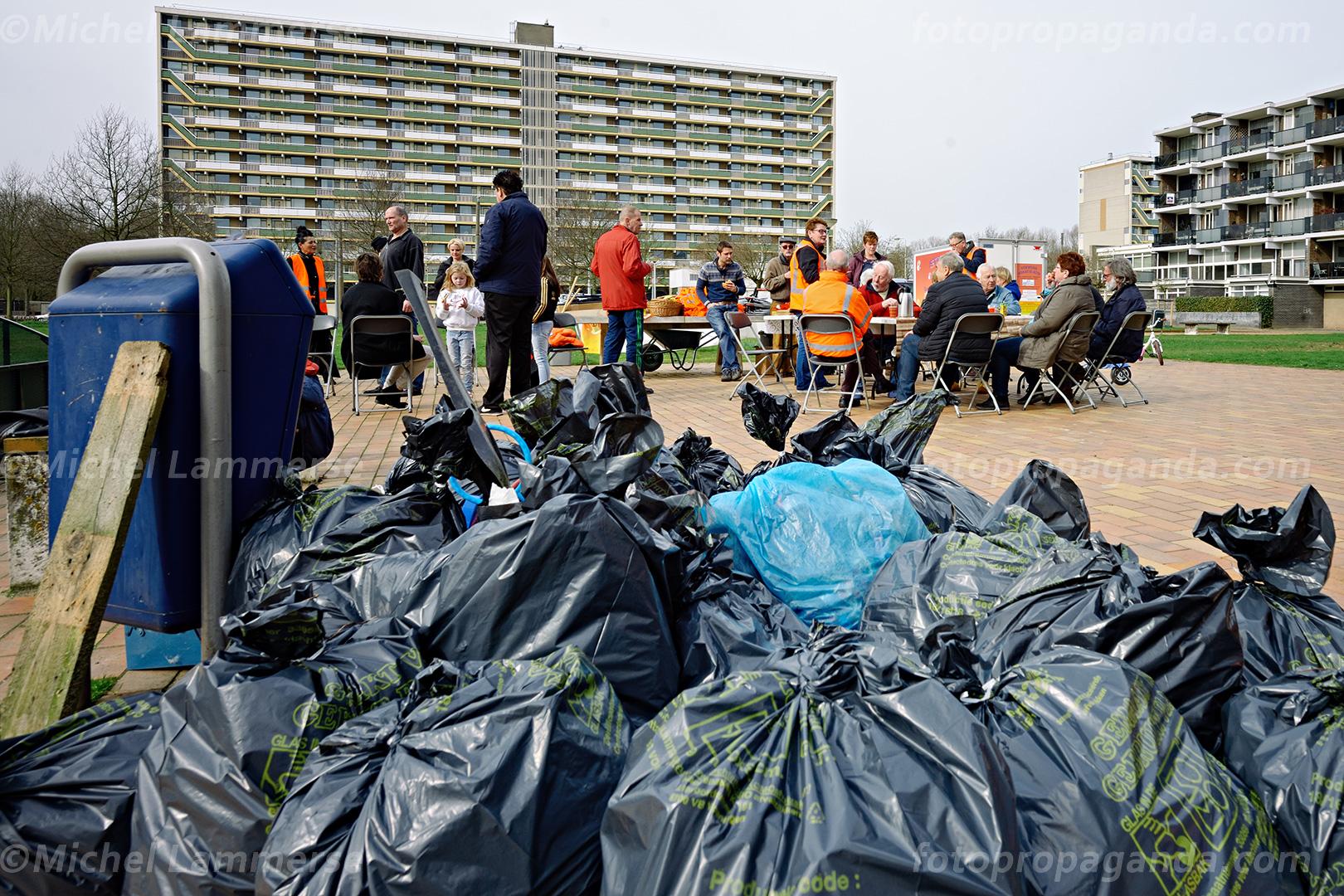 NL Doet! actie afval inzameling