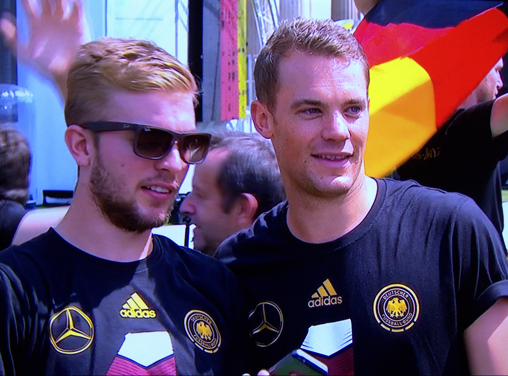 Photo of Christoph Kramer & his friend football player   Manuel Neuer - Germany