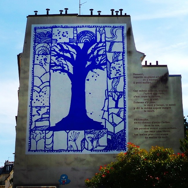 L 39 arbre bleu de pierre alechinsky peinture l 39 arbre - Bleu vintage peinture ...