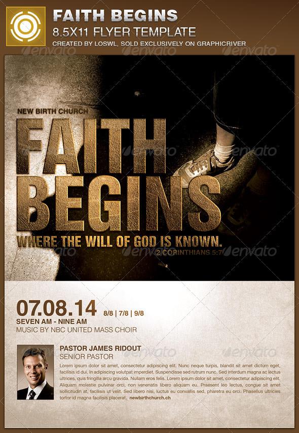 Faith Begins Church Flyer Template The Faith Begins Church Flickr