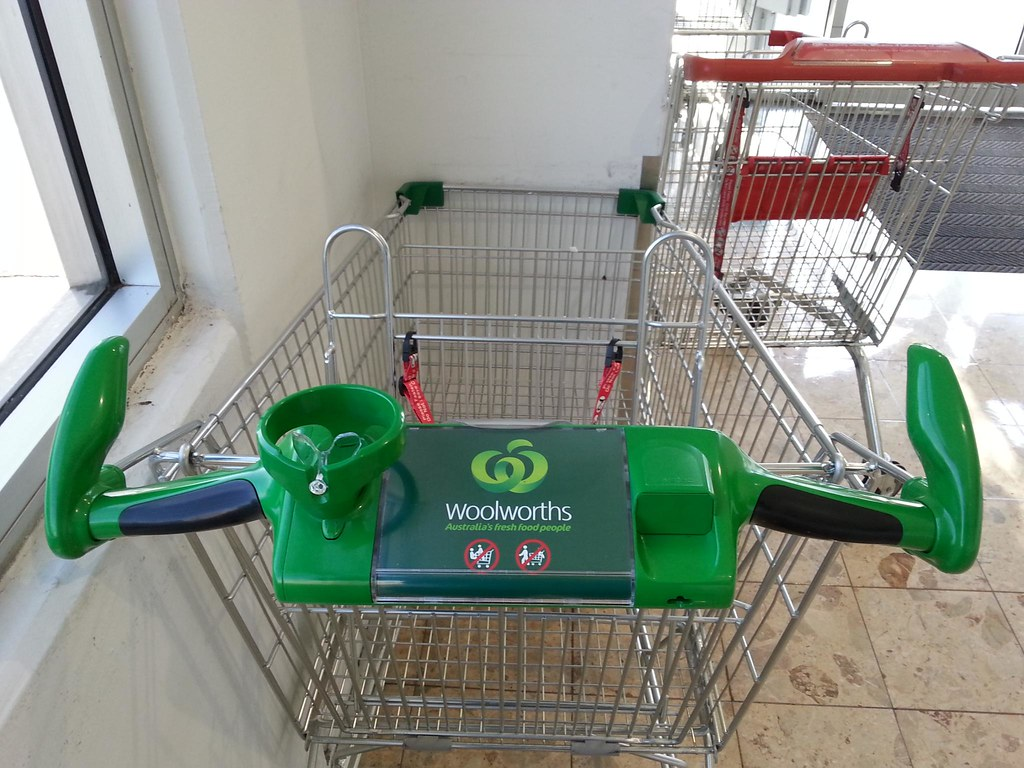 Coffee Cup Holder On A Shopping Trolley Only In Coffee