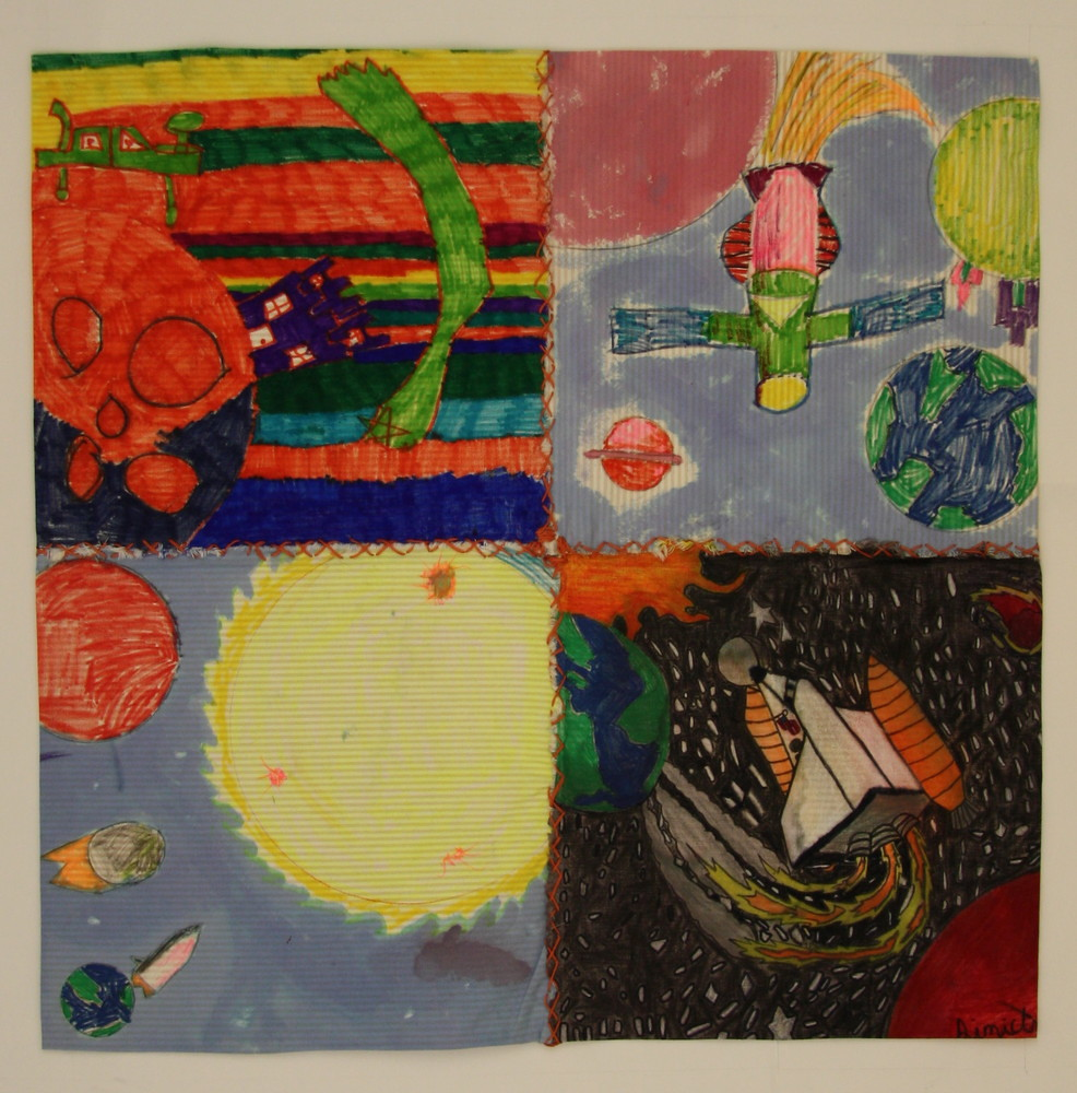 Socrum elementary school 4th and 5th graders lakeland fl for Space themed fleece fabric