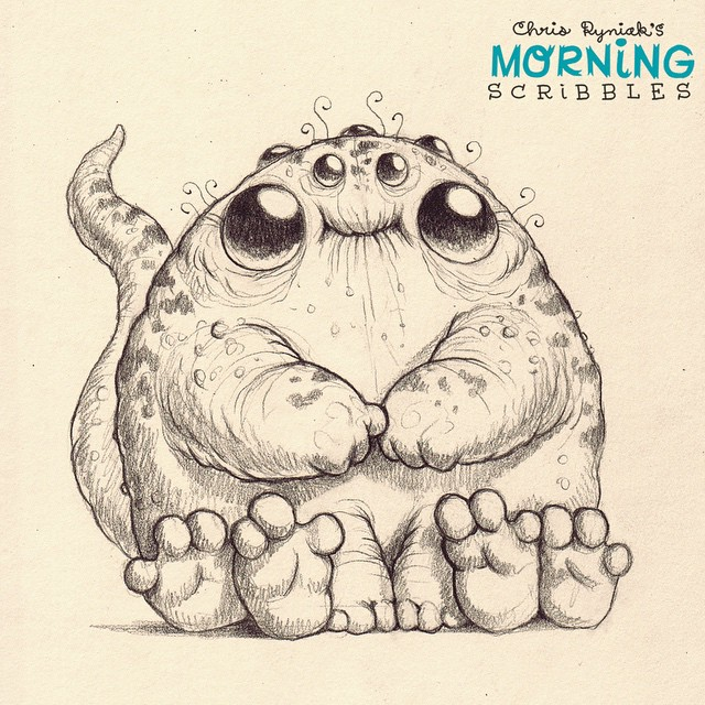 Character Drawings Portraits And Monsters: Fingers And Toes... #morningscribbles