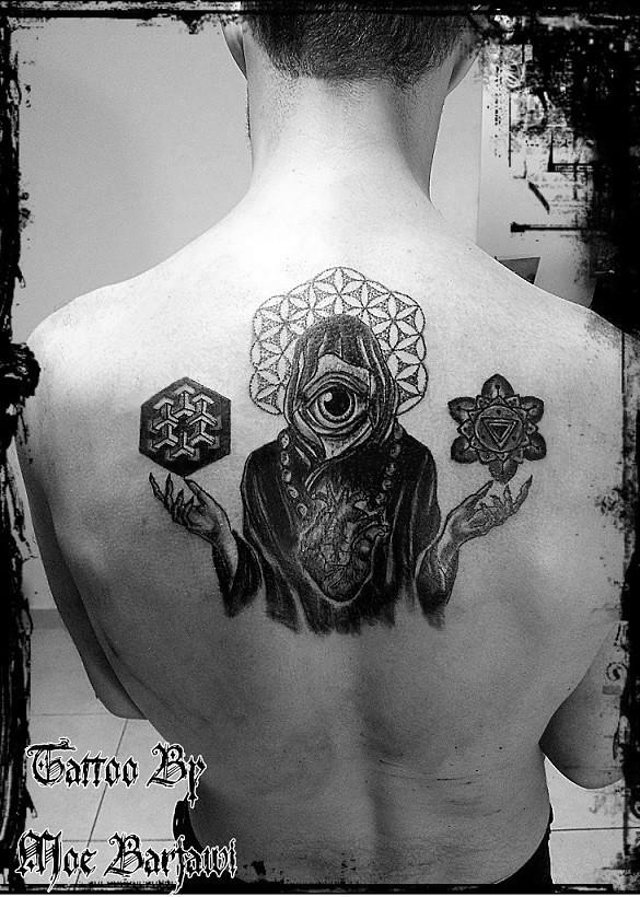 dot work tattoo flower of life amp third eye amp sacred geomet