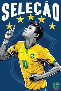 2014年世界杯各国家队海报