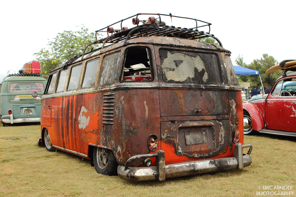 After The Fire This Volkswagen Bus Was The Victim Of A