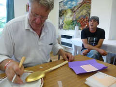 Gilding demonstration