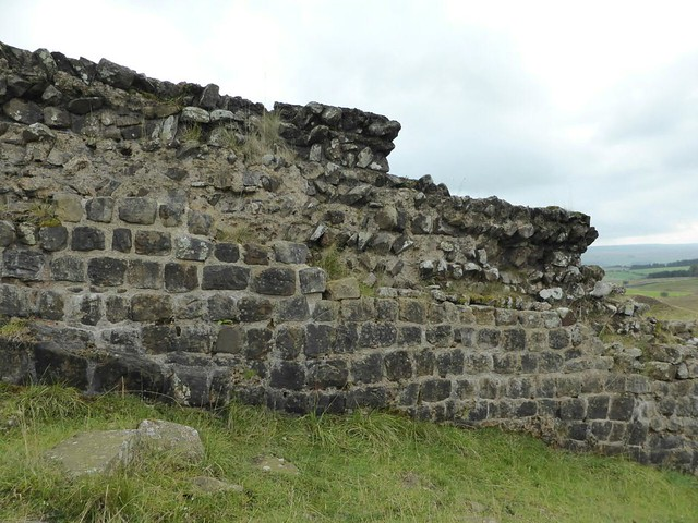 curtain wall east of Sycamore Gap