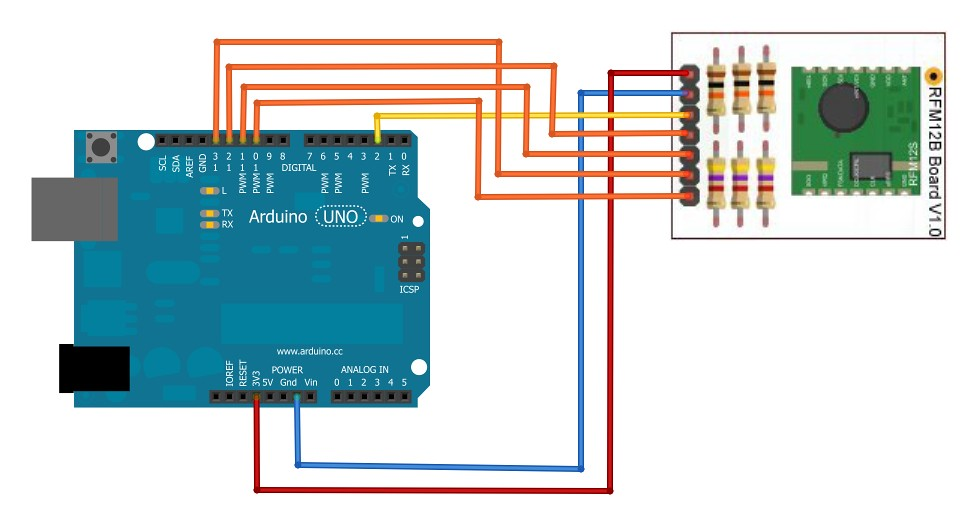 RFM69CW 433MHz Wireless Transceiver