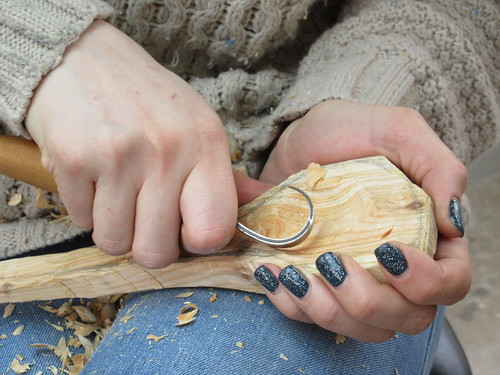 Hollowing a spoon bowl