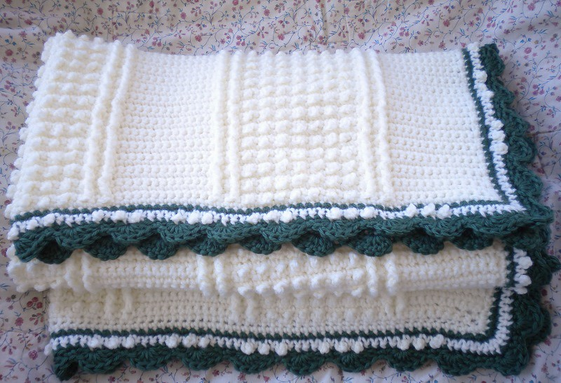 Knitting Jobs Ireland : Crocheted baby afghan irish knit pattern pamela baker