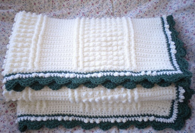 Crocheted Baby Afghan.Irish Knit Pattern Flickr - Photo Sharing!