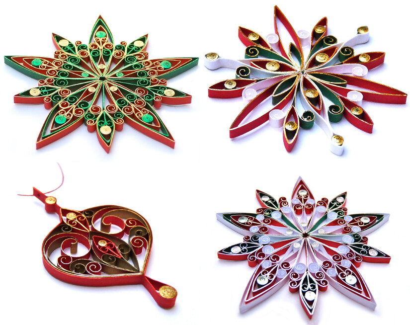 Quilled Christmas Ornaments | Created by Victoria Brewer of … | Flickr