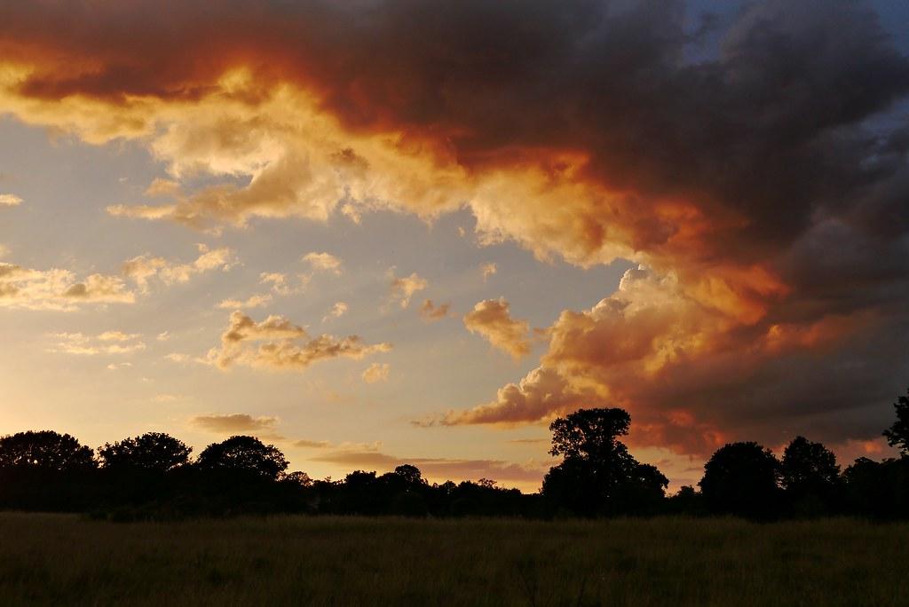fiery glow burning sunset - photo #25