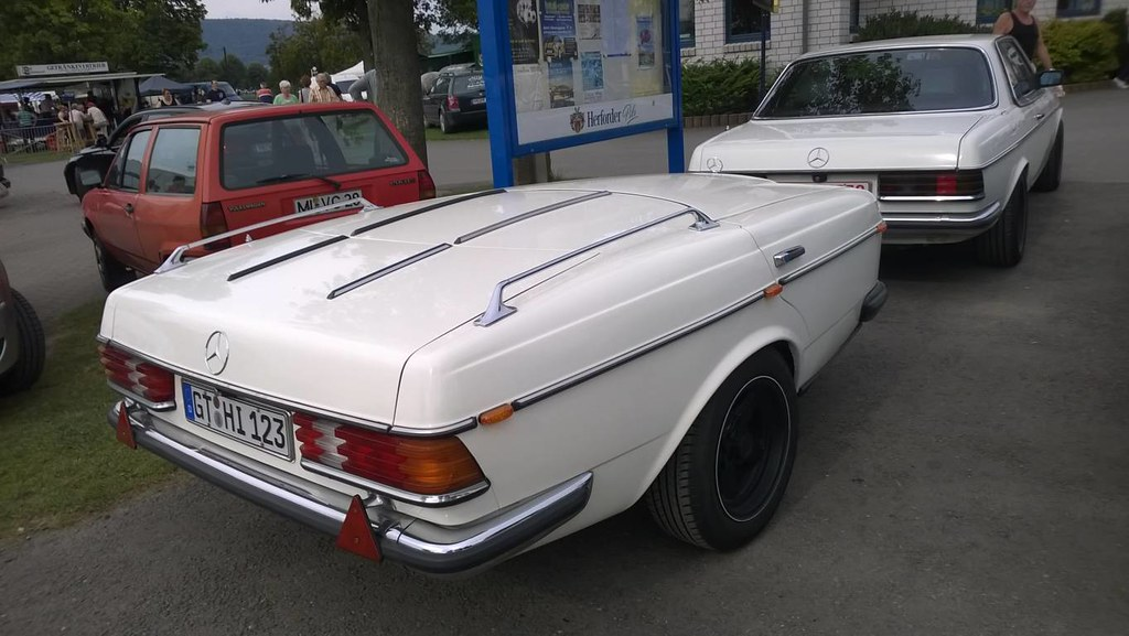 Mercedes-Benz self-made-trailer pulled by 280CE Coupe, W12 ...
