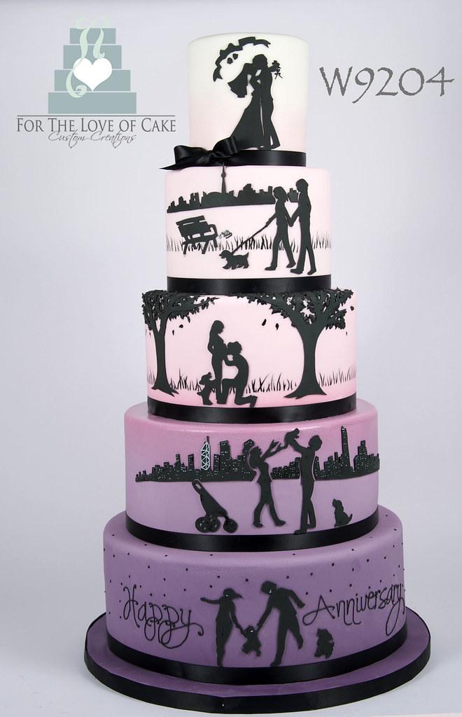 Gold Wedding Cake Topper Couple Cake Topper Silhouette Cake Topper