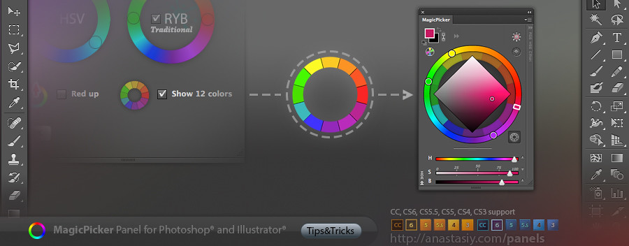 tip 29 12 basic colors on a ryb color wheel with magicpic. Black Bedroom Furniture Sets. Home Design Ideas