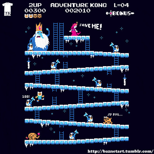 Donkey Kong mash-ups by BazNet - Adventure Time