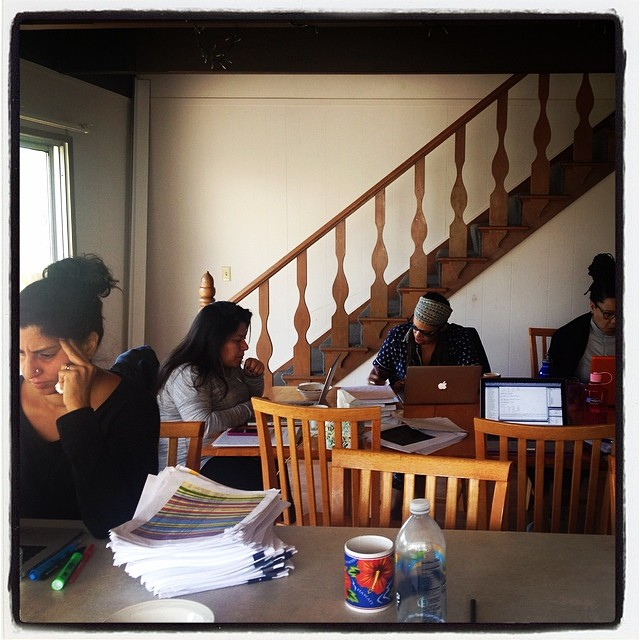 Writers writing #ccretreat14