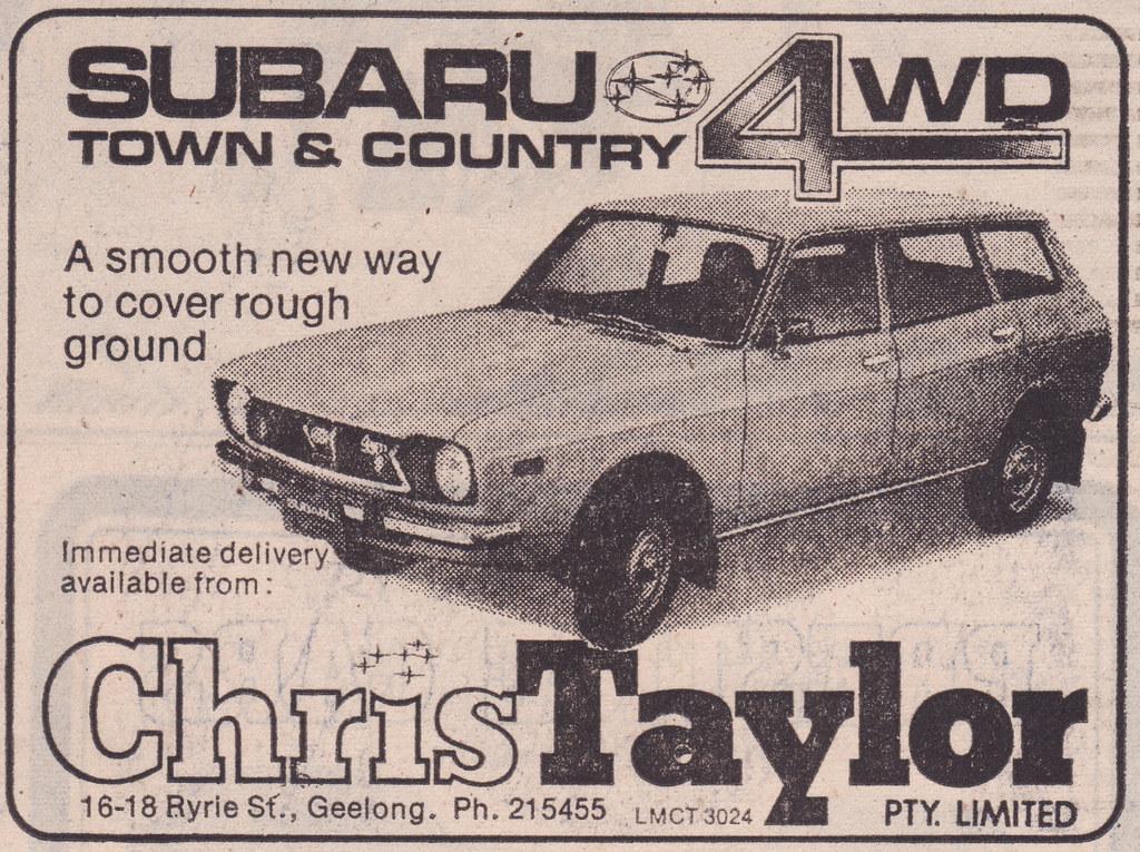1975 subaru town country wagon 4wd ad australia flickr. Black Bedroom Furniture Sets. Home Design Ideas