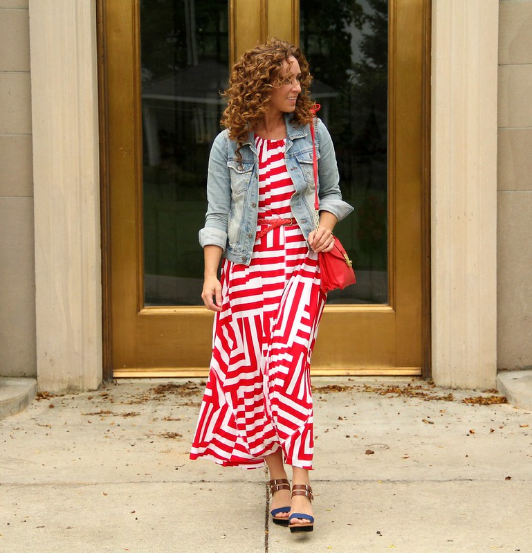 modest outfit for July 4th via kristinaj blog