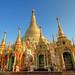 Golden Spires of Shwedagon Pagoda / Yangon (Rangoon) / Myanmar (Burma)