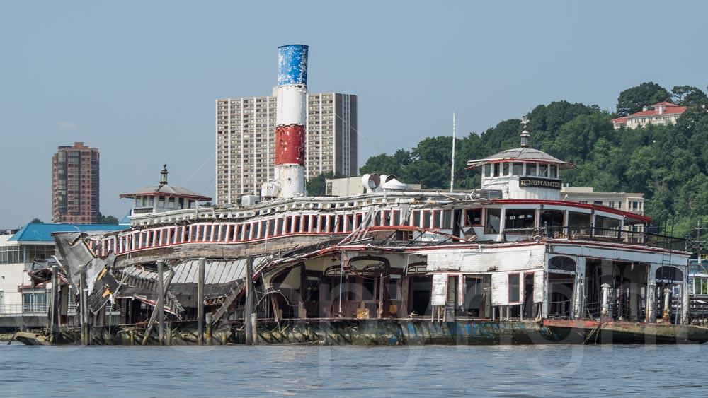 Submerged Binghamton Ferry Boat On The Hudson River Edgew