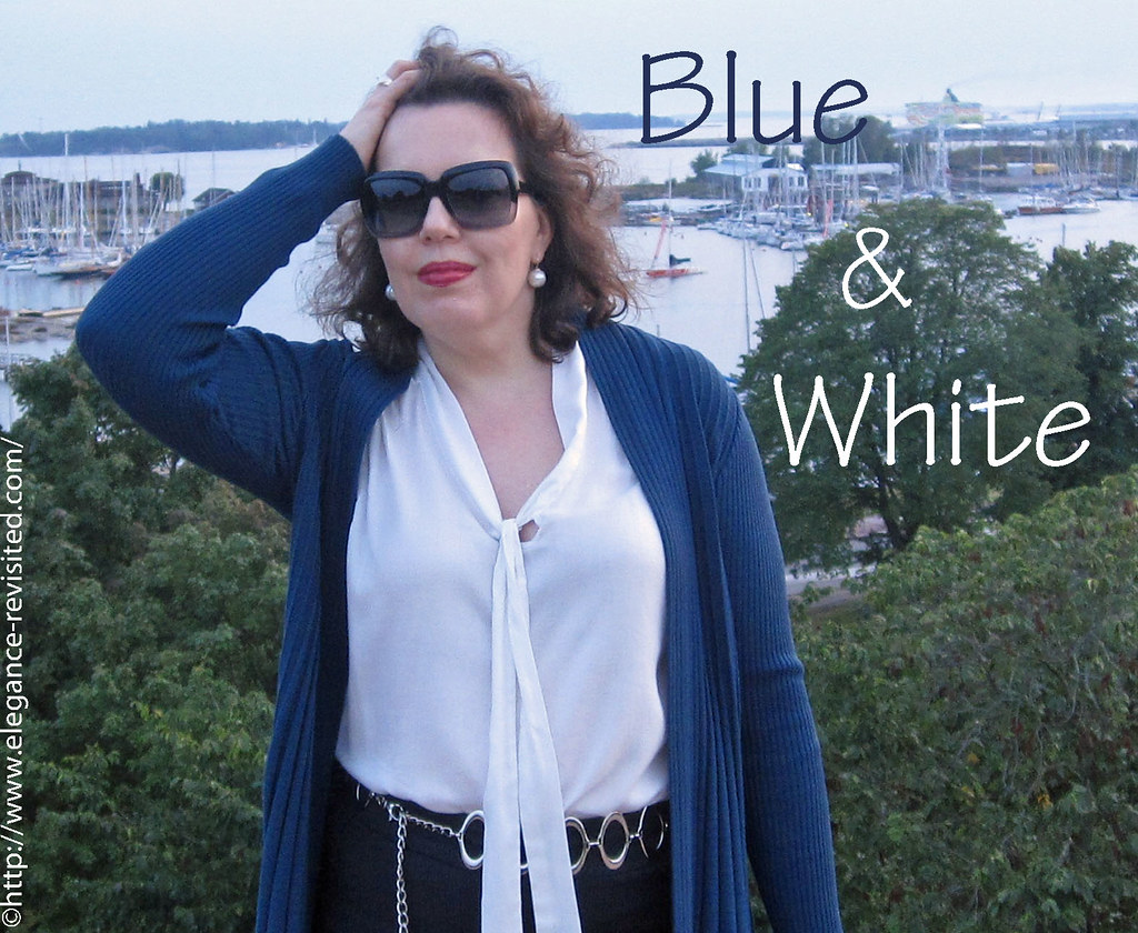 how to accessorise blue and white