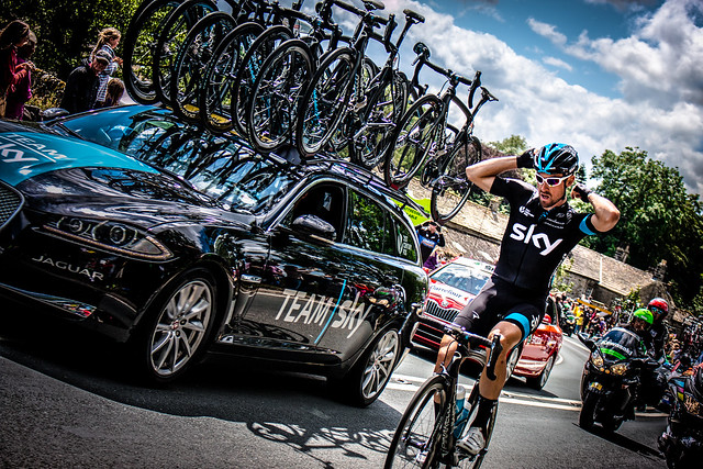 Team Sky Cyclist