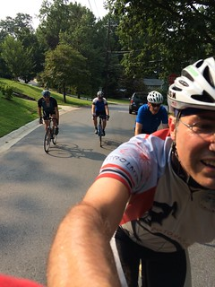 First club ride after surgery, August 9, 2014.