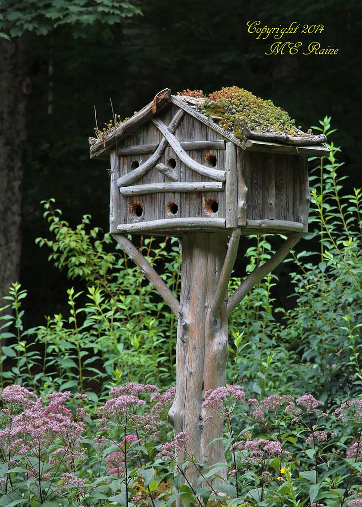 Rustic Birdhouse 2 Of 2 Landscape At Leonard J Buck G