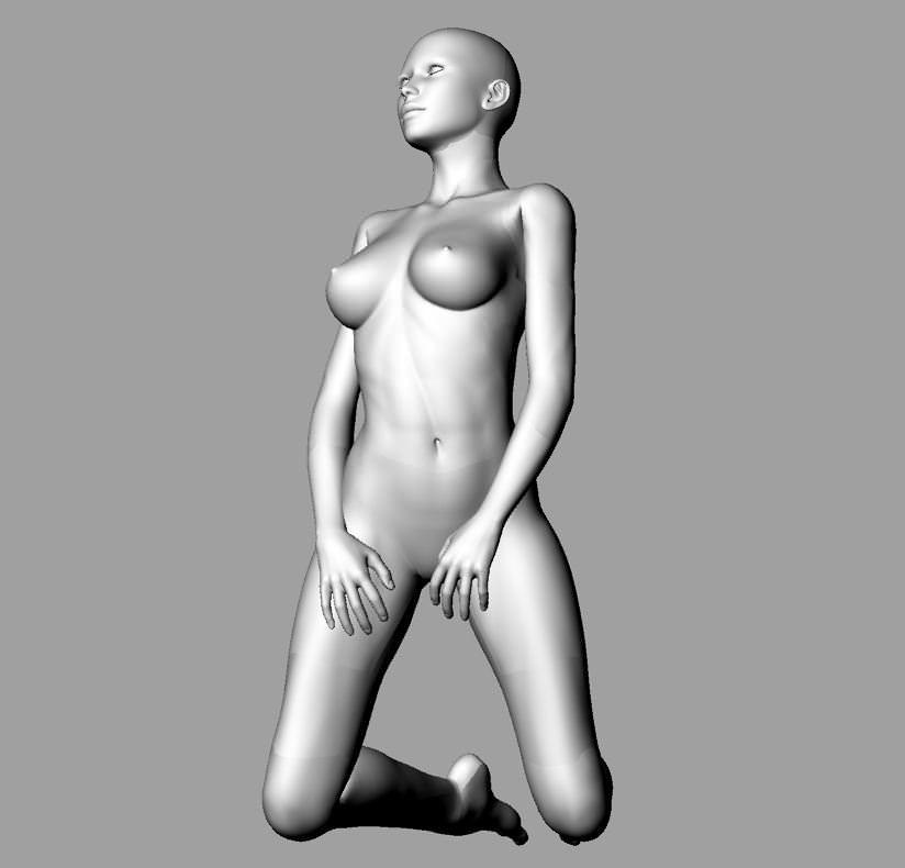Nude Woman Model 90