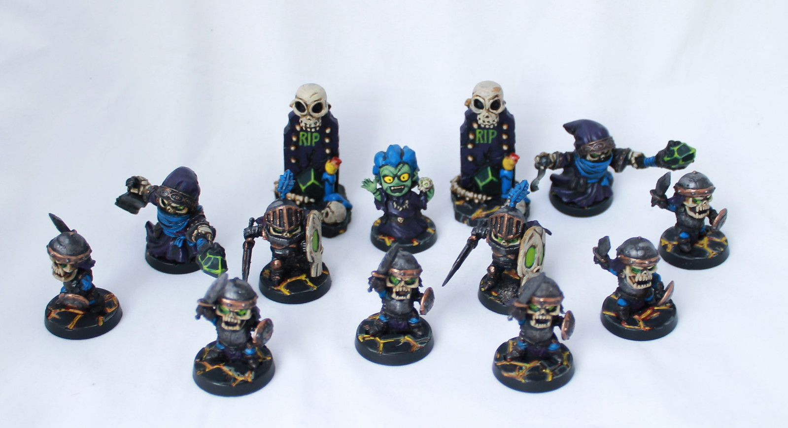 Super Dungeon Explore Painted Chibi Undead Skeletons Wizard Mage Shallow Grave Minions