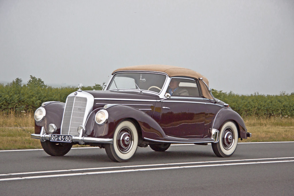 Mercedes benz 220 cabriolet w187 second series 1954 681 for B series mercedes benz