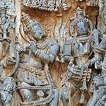 Le Temple de Hoysaleshwara (Halebîd, Inde)