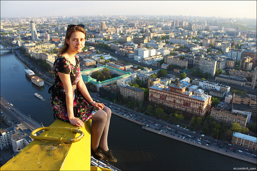 Girl On The Edge | Rooftopper Angela Sitting On The Star Of U2026 | Flickr