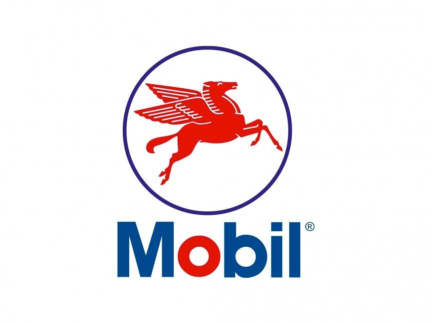 Flying red horse logo undated this logo of the mobil for Logo mobile